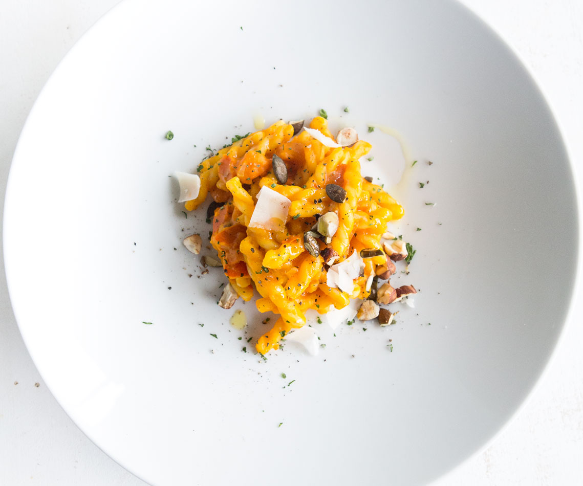 Rezept für Pasta mit Kürbis-Ragout