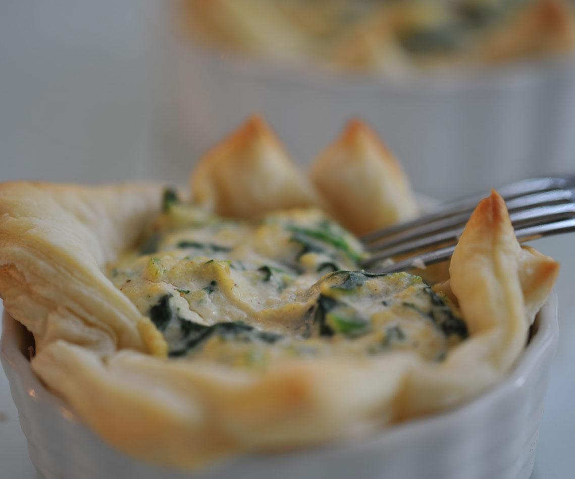 Rezept für Spinat-Ricotta-Tarte