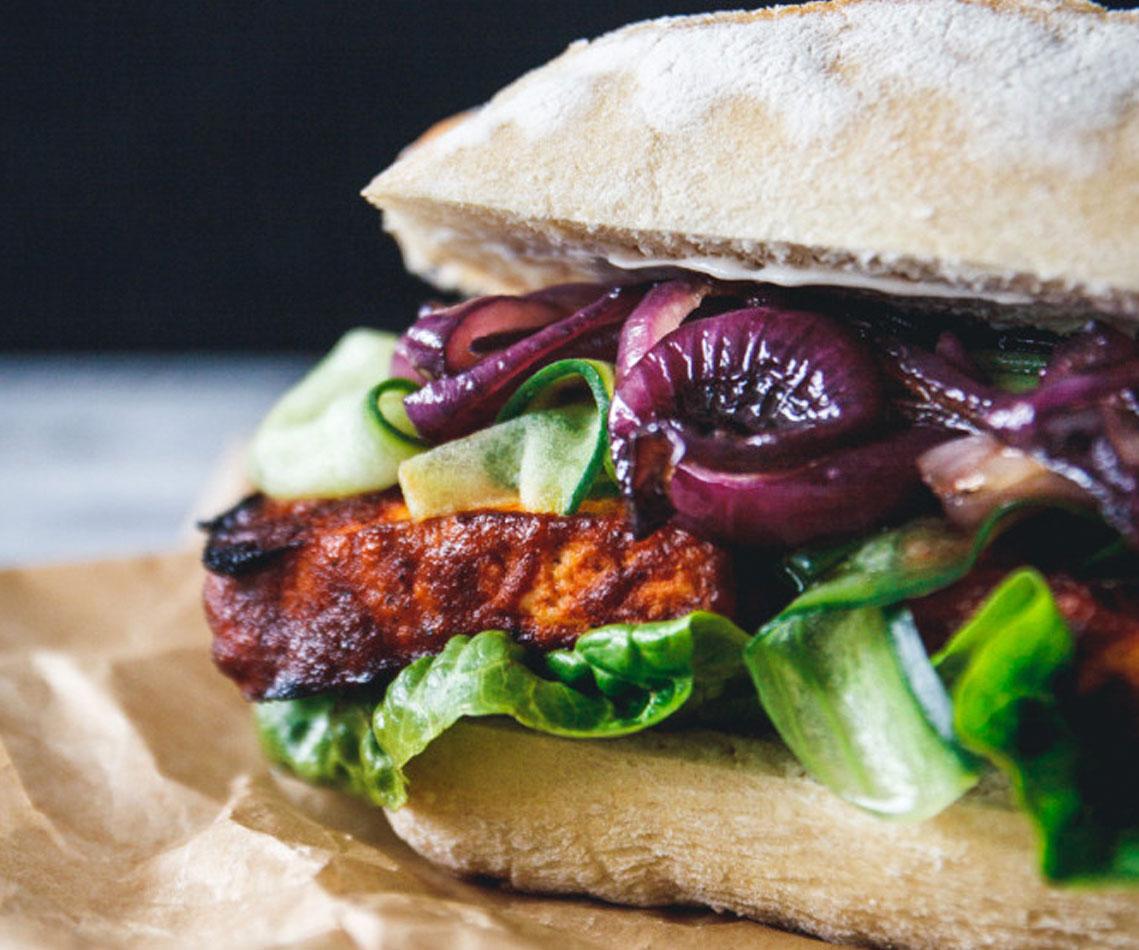 Rezept für Barbecue Tofu Sandwich