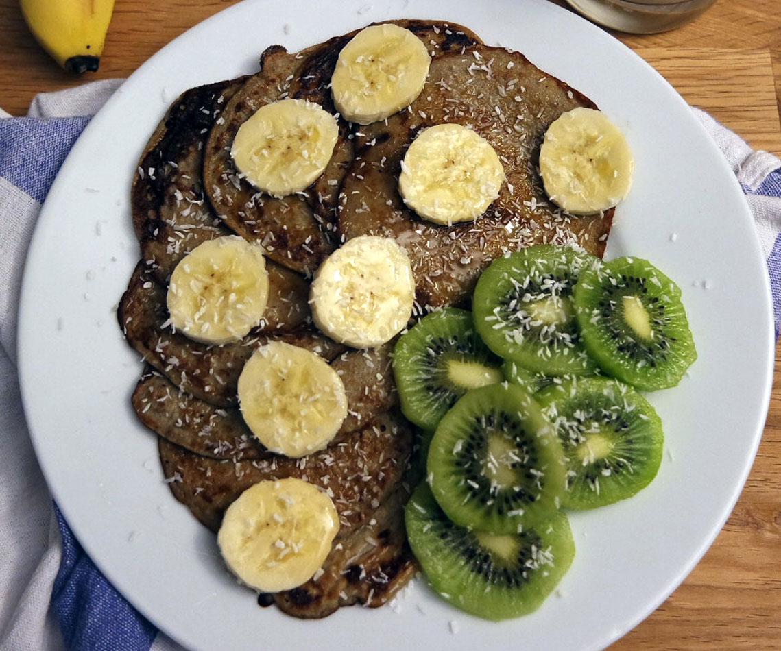 Rezept für Healthy Banana Pancakes
