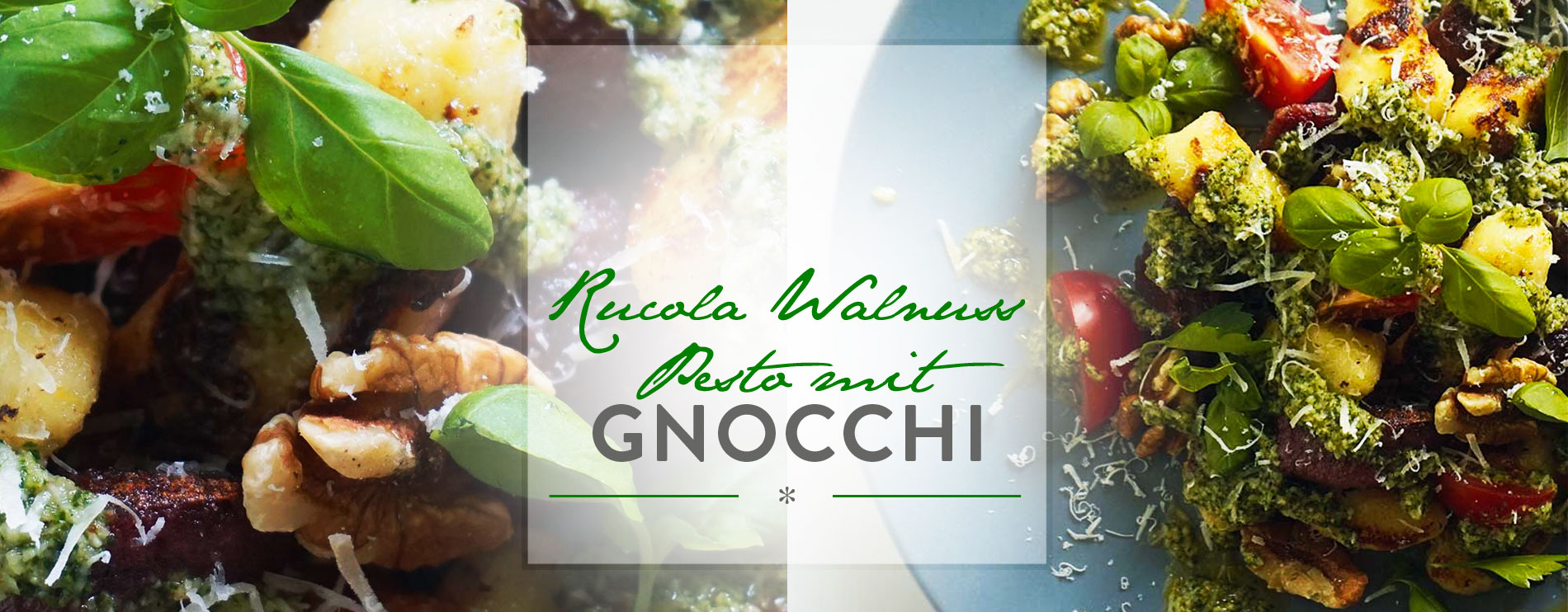 Header Rucola Walnuss Pesto mit Gnocchi