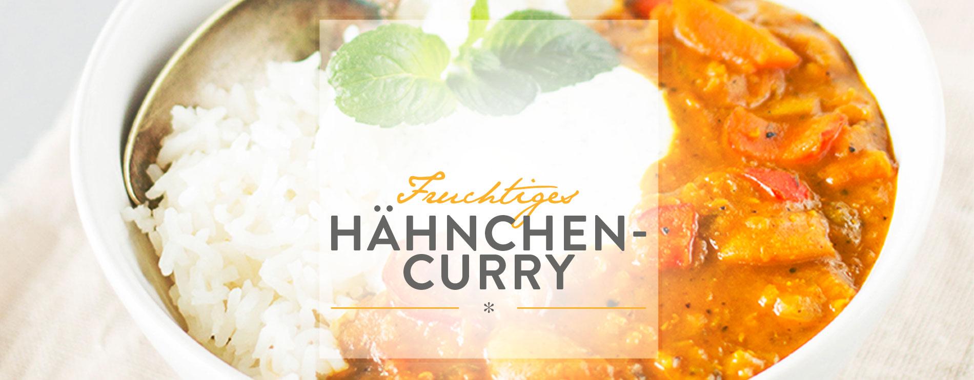 Header Fruchtiges Hähnchencurry