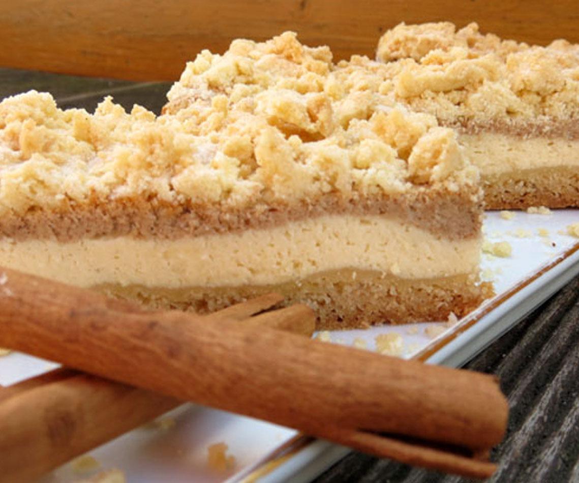 Rezept für Snickerdoodle Cheesecake Bars