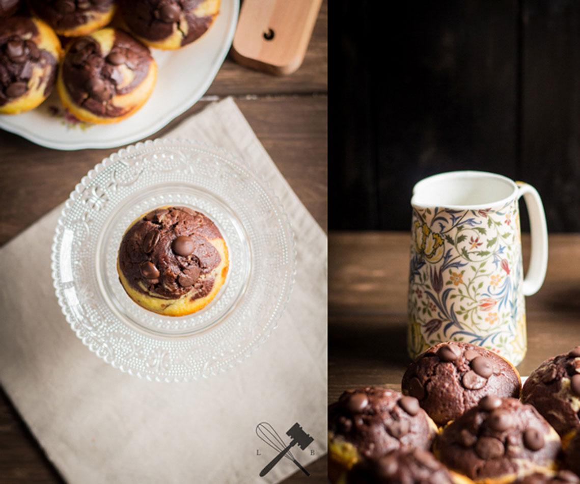 Rezept für Schokoladen Orangen Muffins
