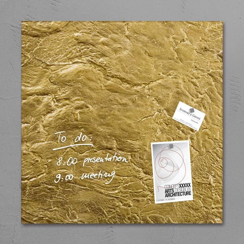 Goldene Magnettafel von Sigel