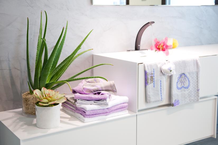 Muebles de baño integrados con el lavabo