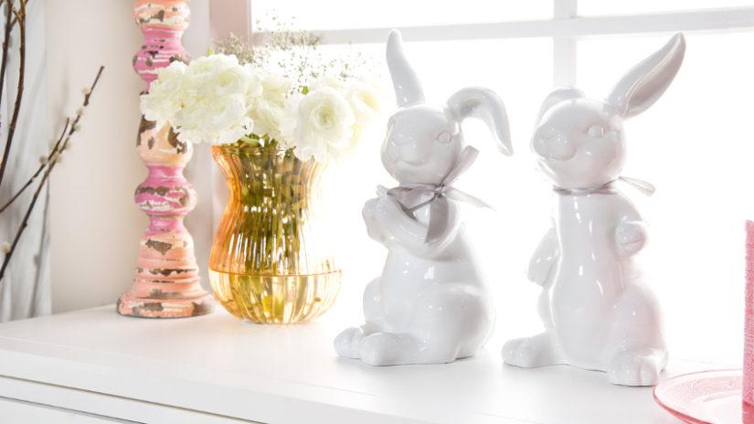 Decorar con conejos de pascua