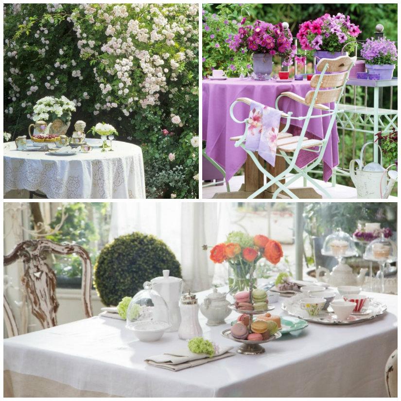 decoracin de mesas con flores