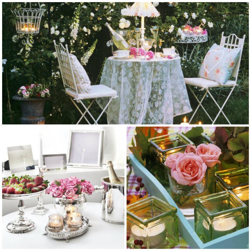 decoración de mesas románticas