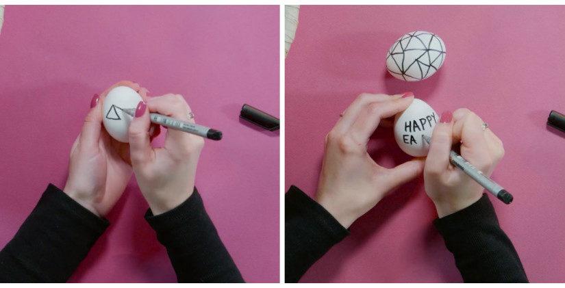 Decoración de pascua huevos pintados