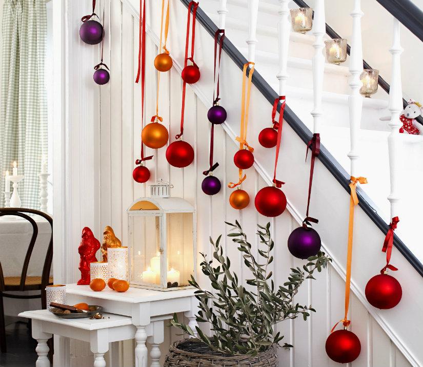 decoración navideña bolas de Navidad