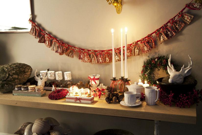 decoración navideña luces de Navidad