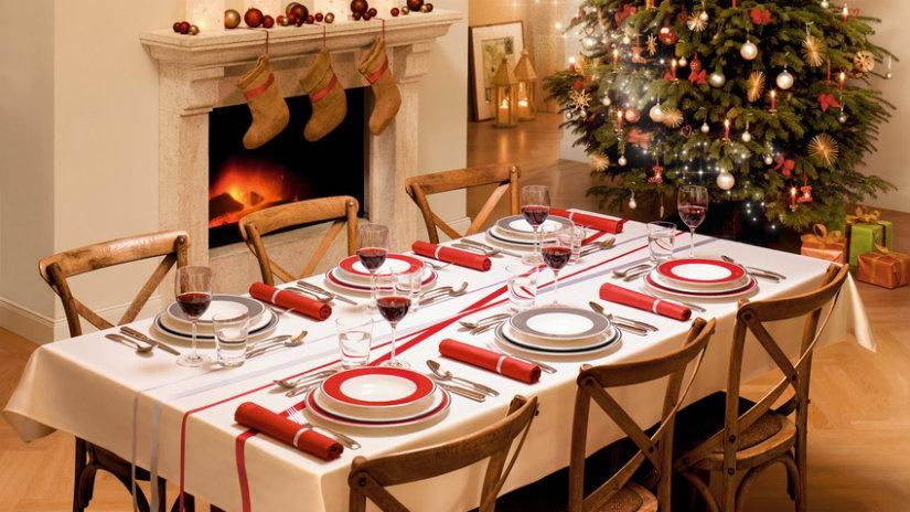 decoración navideña para la mesa del comedor