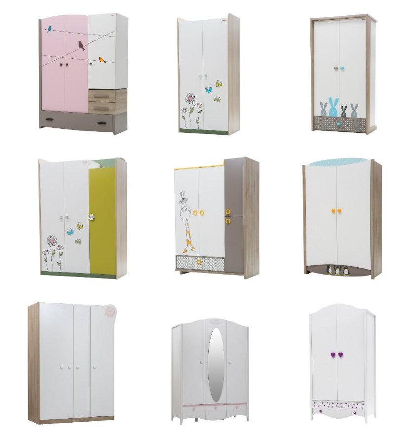 habitaciones para bebés armarios