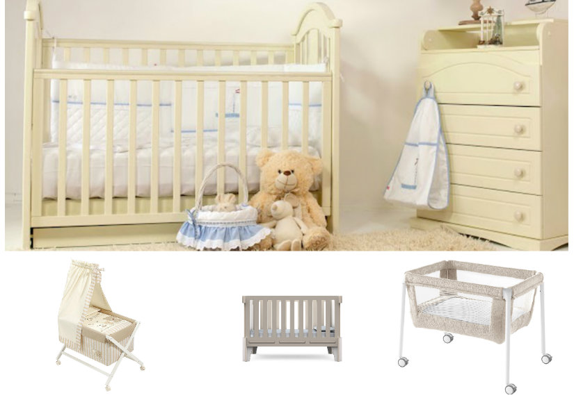 habitaciones para bebés cunas en color crema