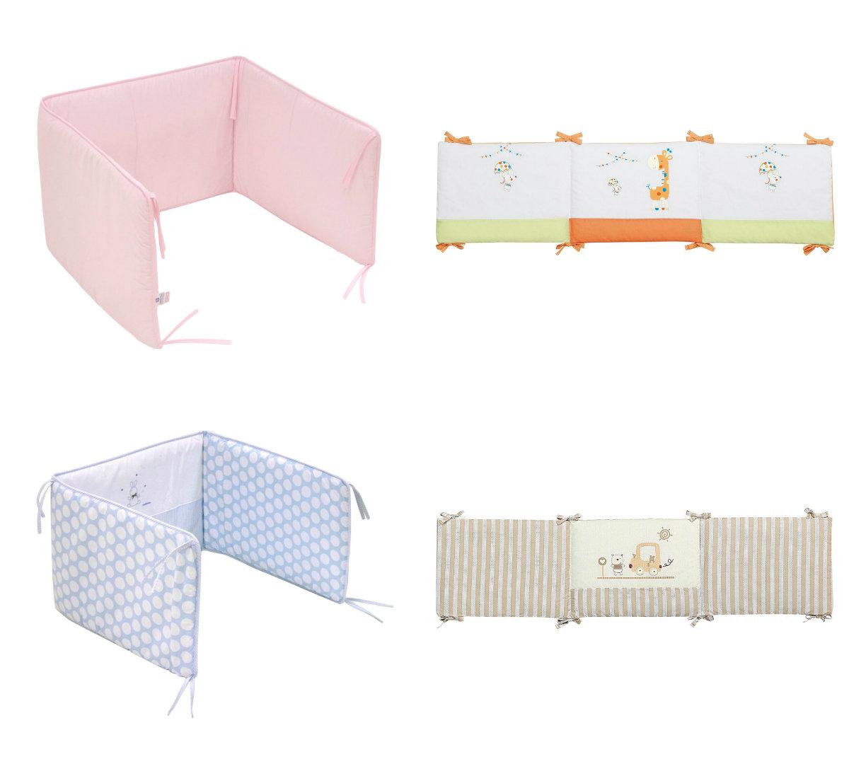 habitaciones para bebés protectores para cunas