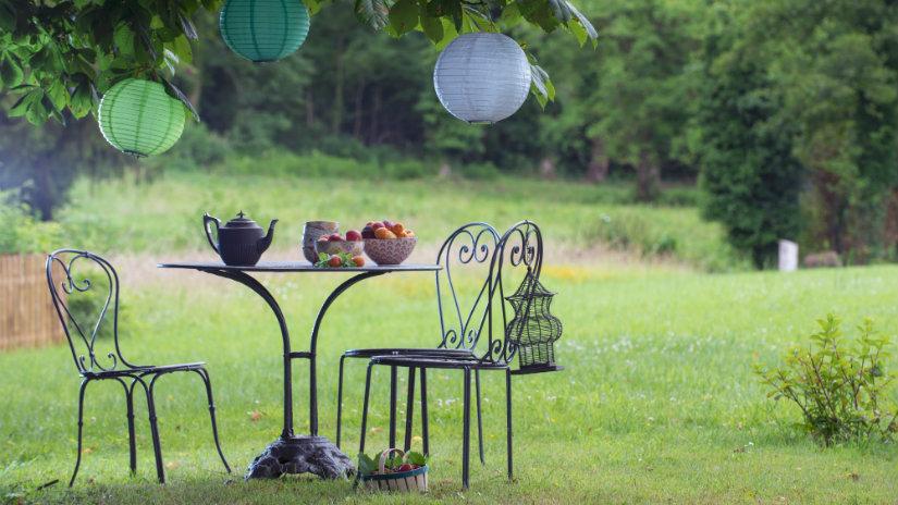 muebles de jardín de forja