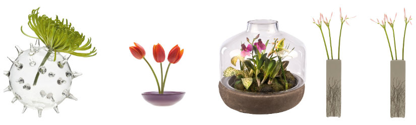 decoración de primavera con flores frescas