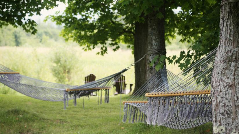 Ideas para jardín hamaca