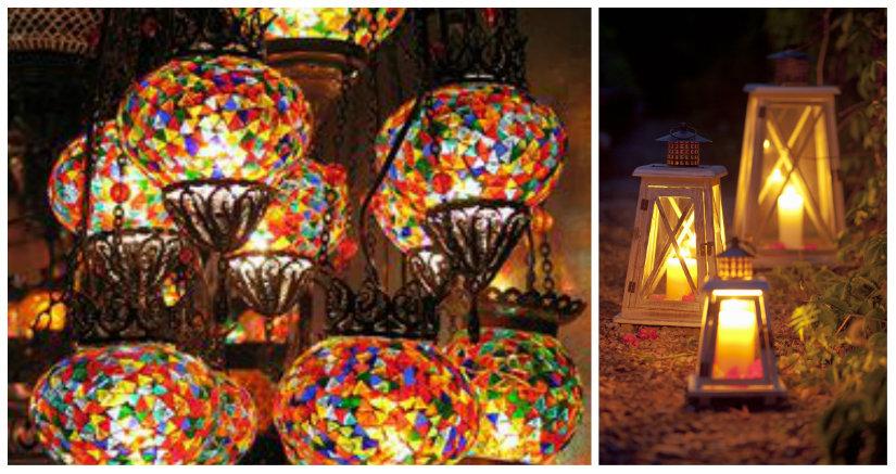 luces de jardín de colores