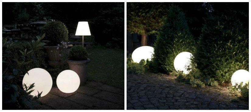 luces de jardín originales