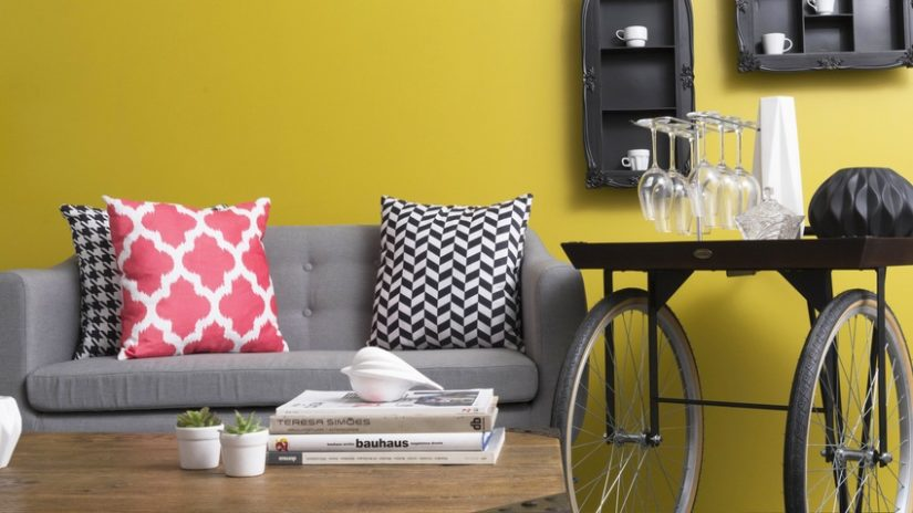 decoración de interiores amarillo