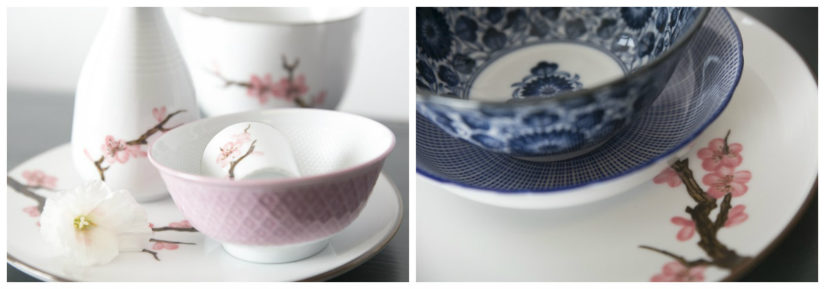 Decoración con porcelana plato