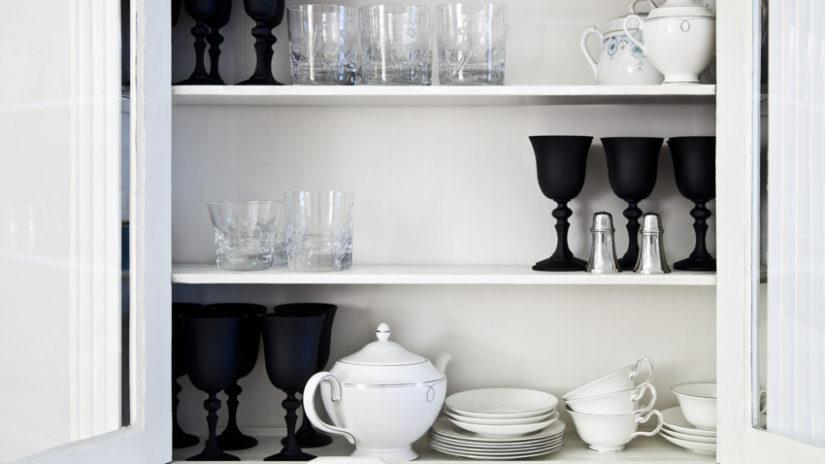 decoración con porcelana negra