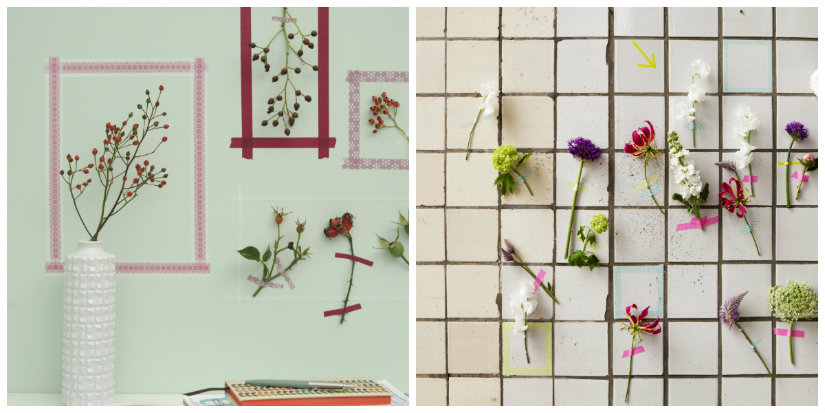 decoración de paredes con flores