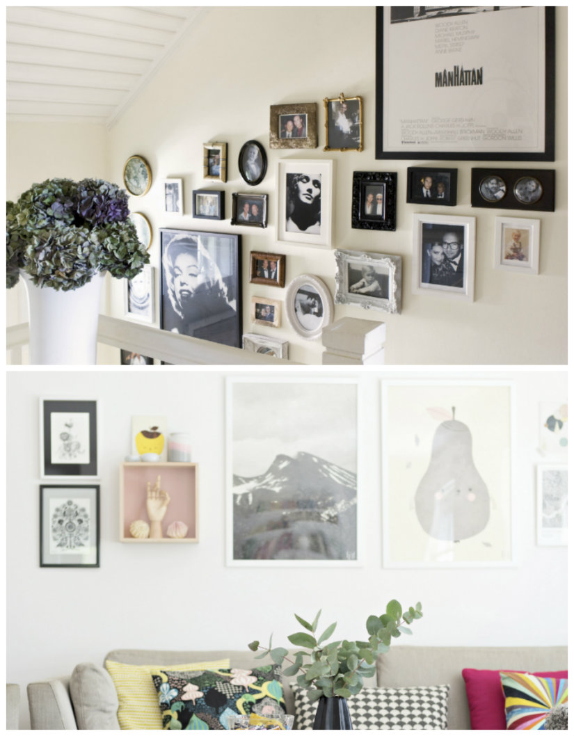 decoración de paredes con fotos