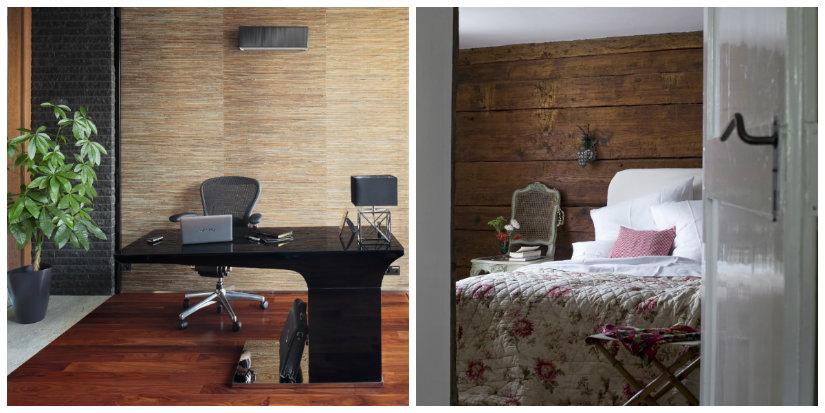 decoración de paredes en madera