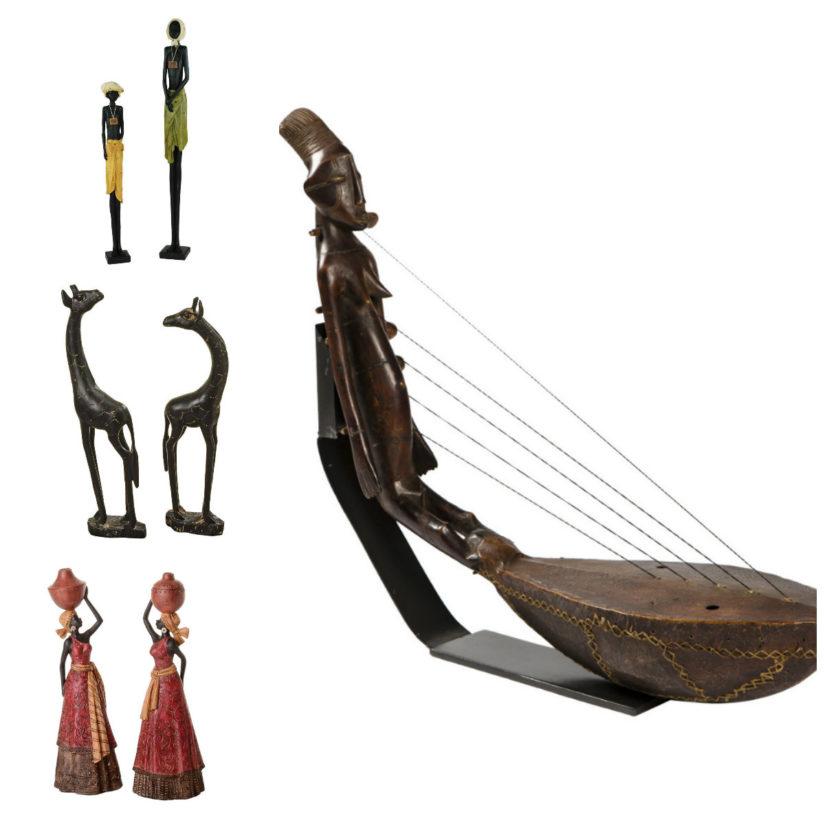 figuras africanas decoración