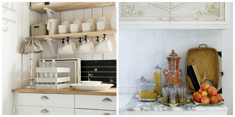 mini cocinas blancas estilos