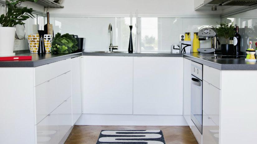 mini cocinas blancas
