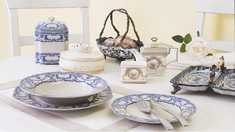decoración con vajillas de porcelana