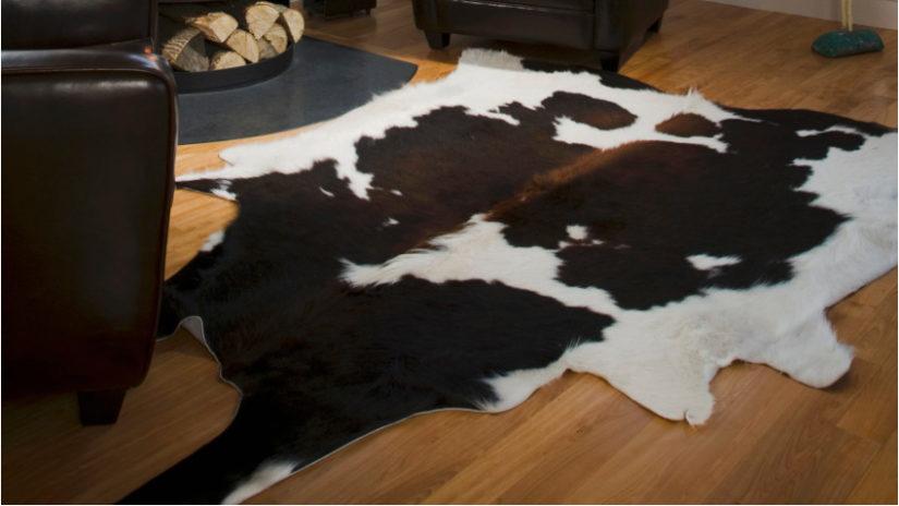 Decoración con cuero vaca