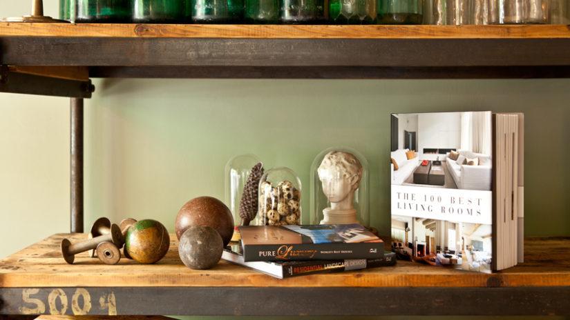 decorar con aglomerado estantería