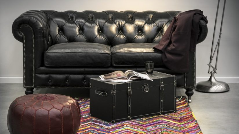 Decoración con cuero sofá