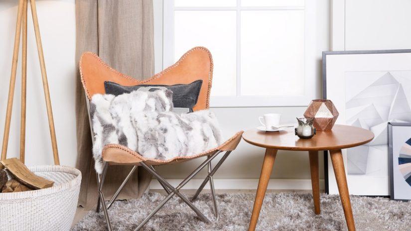 Decoración con cuero silla