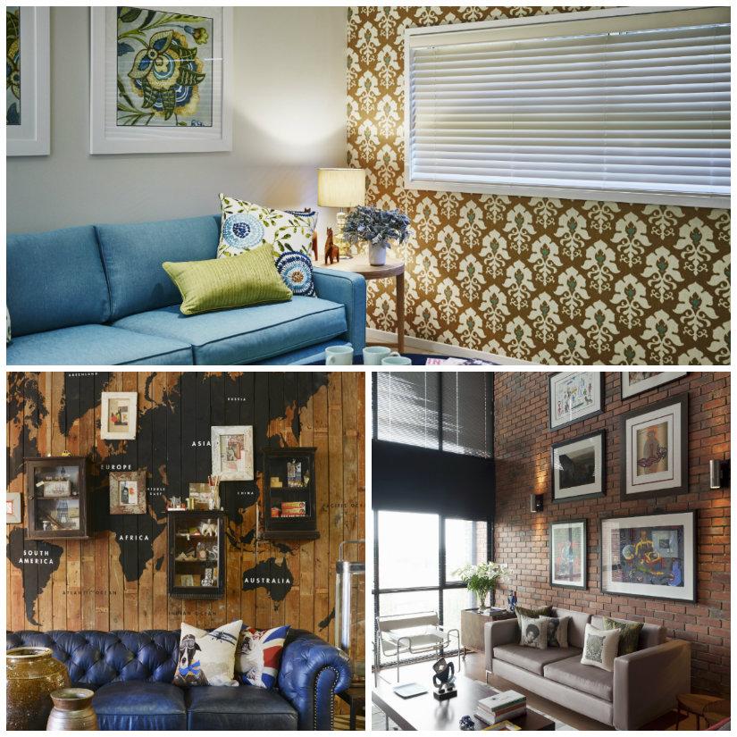 decoración de salones paredes con estilo