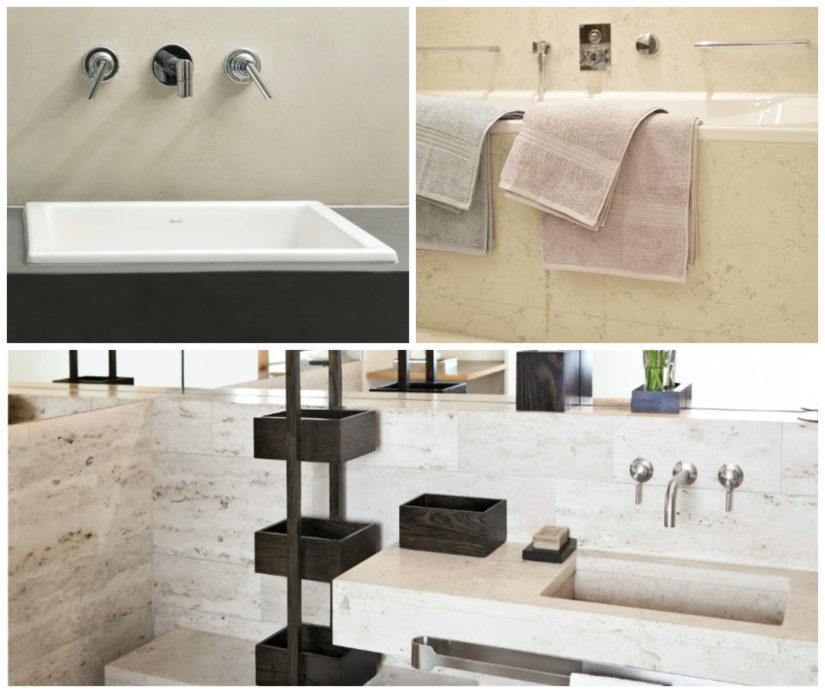 decoración con mármol baño