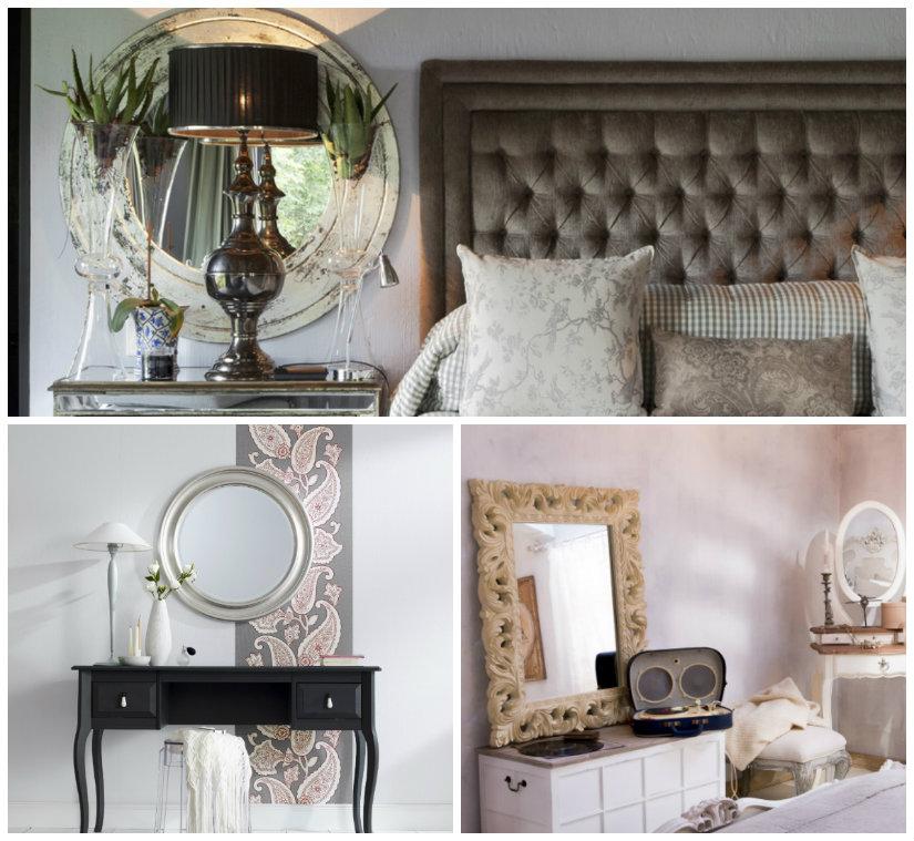 Espejos con marco plateado espejo marco rel blanco xx uac for Espejo dormitorio