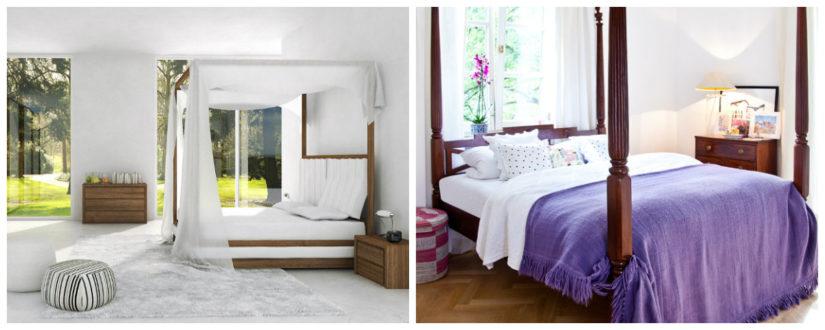 Diseño de dormitorios cama dosel