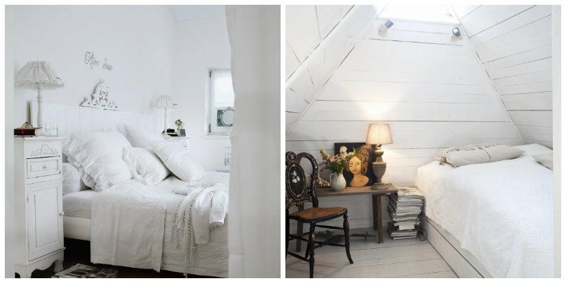 dormitorios pequeños en blanco