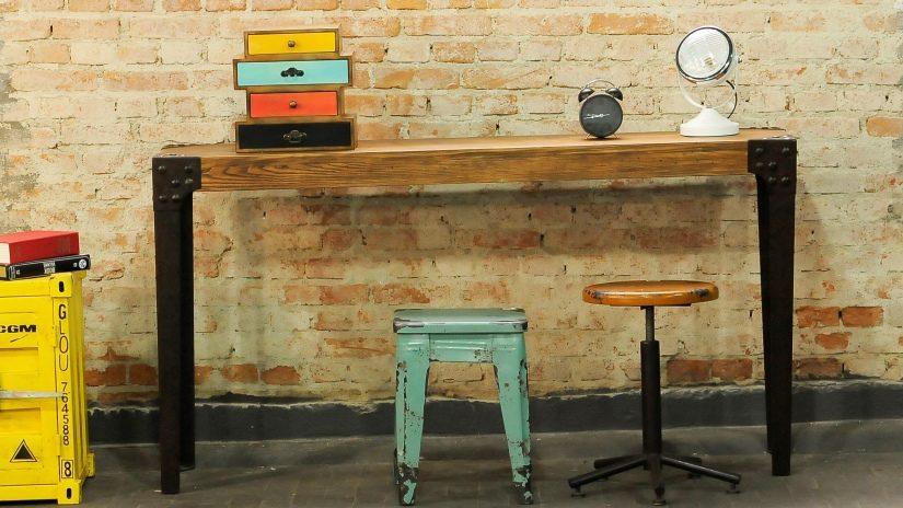 Estilo industrial consejos y trucos de decoraci n - Como hacer una mesa estilo industrial ...