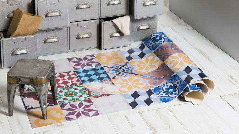 alfombra vinilo mosaico