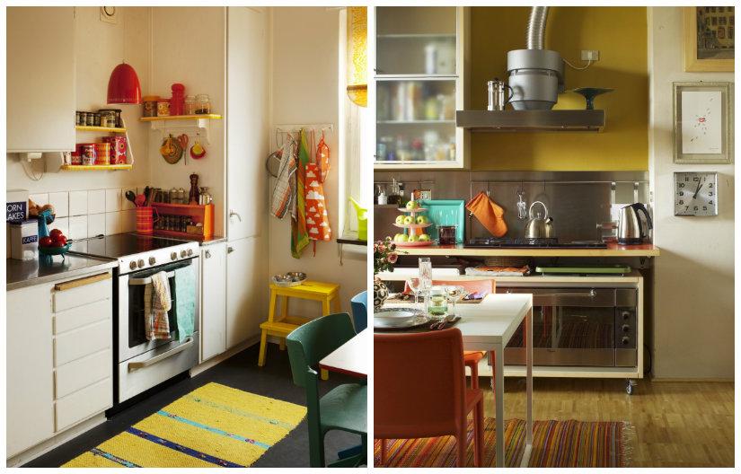 decoración de cocinas en amarillo