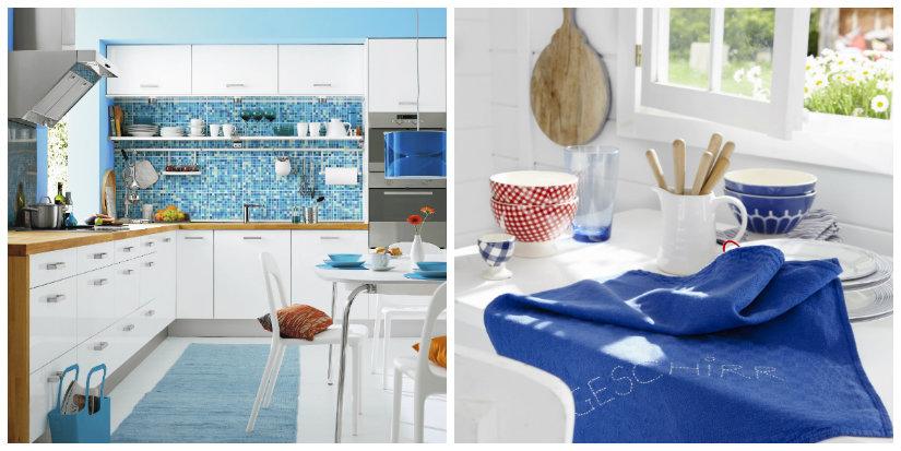 decoración de cocinas en azul