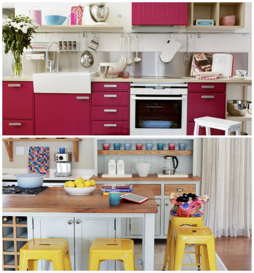 decoración de cocinas en color