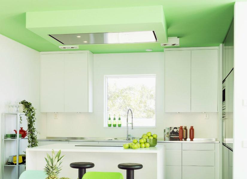 iluminación de cocinas con plafón